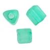 Triangular Beads 5X5mm Light Teal Matte Solgel